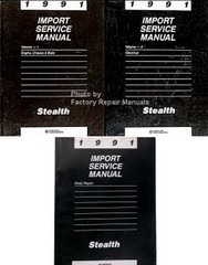 1992 Import Service Manual Stealth Engine, Chassis and Body, Electrical, Body Repair