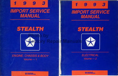 1993 Service Manual Stealth Volume 1, 2