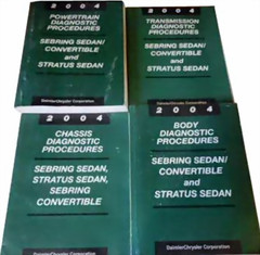 2004 Sebring Sedan and Convertible, Stratus Sedan Diagnostic Procedures Manuals