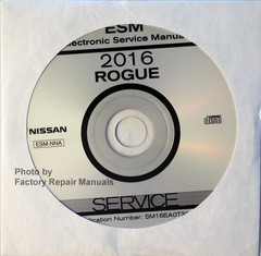 2016 Nissan Rogue Service Information CD