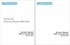 Honda Service Manual 1993 Civic Del Sol