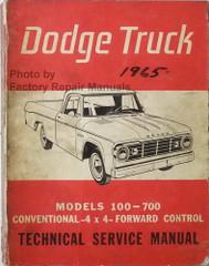 1965 Dodge Truck Service Manual 100-700