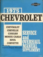 1975 Chevrolet Chevelle, Camaro, Monte Carlo, Nova, Corvette Service Manual Supplement