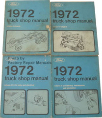 1972 Ford Truck Shop Manual Volume 1, 2, 3, 4, 5