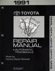 1991 Toyota Repair Manual Automatic Transaxle A240L, A241L, A241E, A241H, A243L