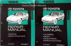 1992 Toyota Previa Mini Van Electrical Wiring Diagrams Original Manual Factory Repair Manuals