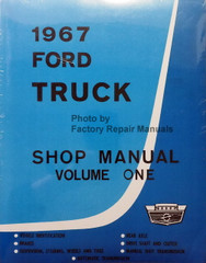 1967 Ford Truck Shop Manual Volume 1, 2, 3