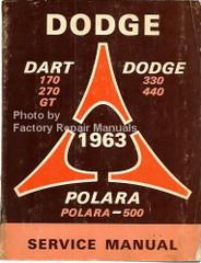 Dodge Dart Dodge 330 440 Polara 1963 Service Manual