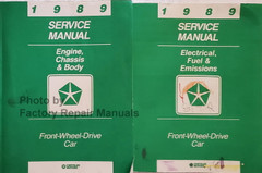 1989 Chrysler Plymouth Dodge FWD Car Service Manuals