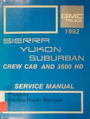 1992 GMC Sierra Yukon Suburban Service Manual