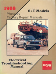 1988 Light Duty Truck S/T Models Electrical Troubleshooting Manual GMC