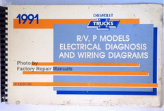 1991 Chevrolet Trucks R/V P Models Electrical Diagnosis & Wiring Diagrams