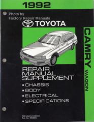 1992 Toyota Camry Wagon Repair Manual Supplement