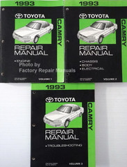 1993 Toyota Camry Repair Manuals Volume 1, 2, 3