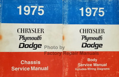 1975 Chrysler Plymouth Dodge Factory Service Manual Set Original Shop Repair