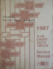 1987 Chevrolet S-10 Light Duty Truck Blazer Shop Manual