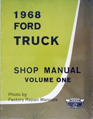 1968 Ford Truck Shop Manual Volume 1, 2, 3