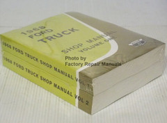 1968 Ford Truck Shop Manual Volume 1, 2, 3 Spine View