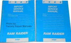 1988 Import Service Manual Ram Raider Volume 1 and 2