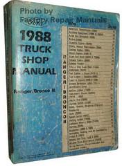 Ford 1988 Truck Shop Manual Ranger / Bronco II