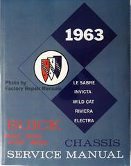 1963 Buick Le Sabre Invicta Wildcat Riviera Electra Chassis Service Manual