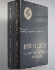1969 Buick Chassis Service Manual All Series Spine View