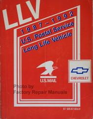 LLV 1987-1992 U.S. Postal Service Long Life Vehicle Service Manual