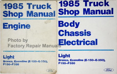 1985 Ford Light Truck Shop Manual Engine Body Chassis Electrical