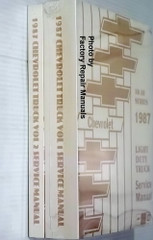 1987 Chevrolet 10-30 Series Light Duty Truck Service Manual Spine View