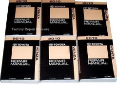 2010 Toyota Venza Repair Manual Volume 1, 2, 3, 4, 5, 6
