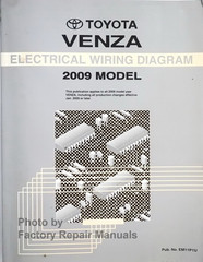 Toyota Venza Electrical Wiring Diagrams 2009 Model