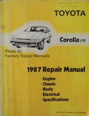 1987 Toyota Corolla FR Repair Manual