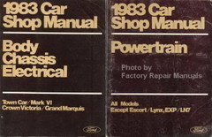 1983 Town Car, Mark VI, Crown Victoria, Grand Marquis Shop Manuals