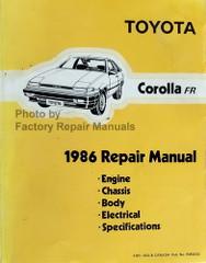1986 Toyota Corolla FR Repair Manual