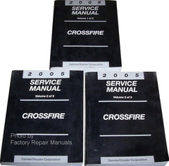 2005 Chrysler Crossfire Service Manual Volume 1, 2, 3