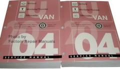 2004 Chevy Venture Oldsmobile Silhouette Pontiac Montana Service Manual Volume 1 and 2
