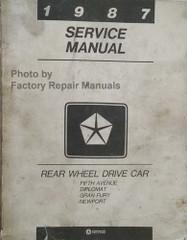 1988 Chrysler Fifth Avenue Diplomat Gran Fury Service Manual