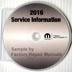 2016 Jeep Renegade Mopar Service Information