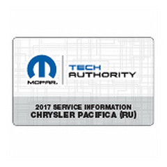 2017 Chrysler Pacifica Mopar Service Information USB