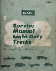 1982 GMC Light Duty Truck Factory Service Manual