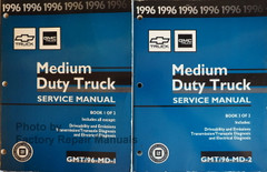 1996 Chevrolet GMC Medium Duty Truck Service Manual Volume 1 and 2