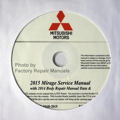 2015 Mitsubishi Mirage Service Manual CD-ROM