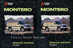 1998 Montero Service Manual Volume 1, 2, Mitsubishi Motors