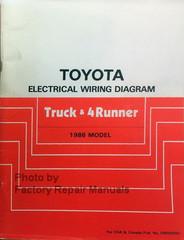 Toyota Electrical Wiring Diagram Truck & 4Runner 1986 Model