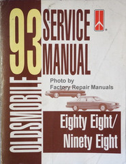 Oldsmobile 1993 Service Manual Eighty Eight/Ninety Eight