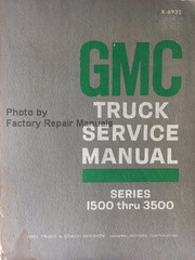 GMC Truck Service Manual Series 1500 thru 3500