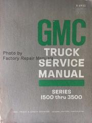 GMC Truck Service Manual Series 1500 thru 3500