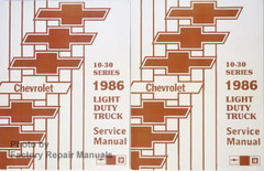 Chevrolet 10-30 Series 1985 Light Duty Truck Shop Manual