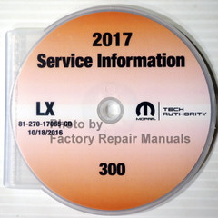 2017 Mopar Service Information Chrysler 300