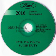 Ford 2016 Service Information F250 F350 F450 F550 Super Duty